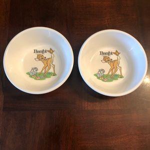 Vintage Disney Bambi Superware Melamine Bowls